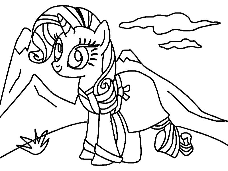 Трафарет Пони