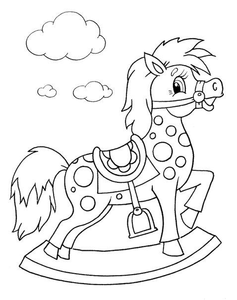 Трафарет коняшка