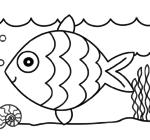 Песочный трафарет рыбка