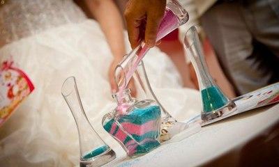 цветной песок для свадьбы, цветной песок для свадебной церемонии
